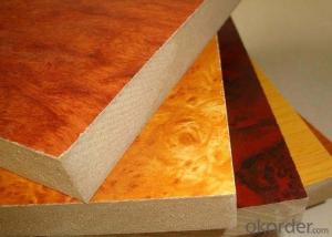 Wood Grain Colors Melamine MDF Boards for Furniture Making