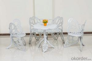 Cast Aluminum Butterfly Garden Dining Set