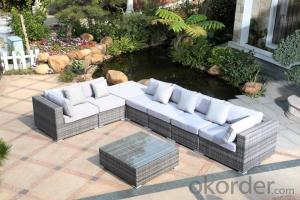 Outdoor Sofa Sets with Anti-UV PE Rattan Wicker
