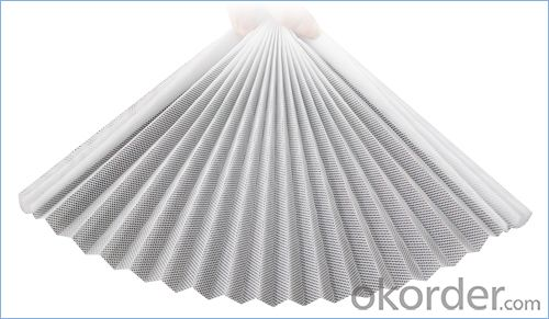 Polypropylene Pleated Mesh with Customized  Fold Height in Grey