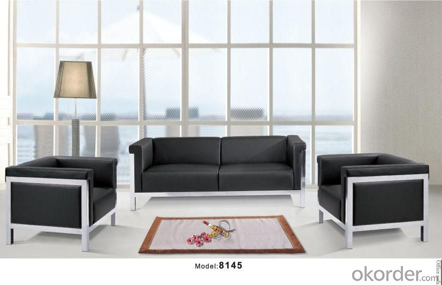 Office Sofa/Waiting Chair Leather/Pu With Low Price CMAX-GB8145