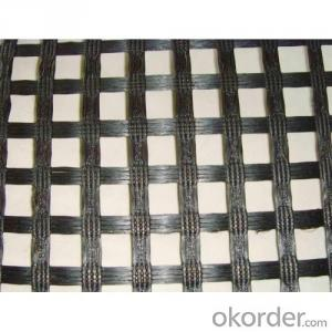 Bitumen Coated Fiberglass Geogrid 100~100/Kn/ For Roadbed Reinforce