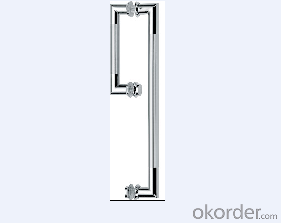 Stainless Steel Glass Door Handle for Bathroom/Shower Room for Office Building Decorative DH122
