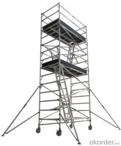 Aluminum Double Width Scaffolding with Inclined Ladder