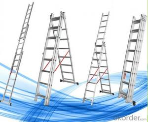 Aluminium Step Ladder, Foldable and Extended