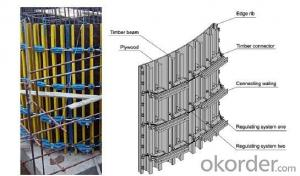 Timber Beam Formwork for Adjustable Arced Formwork