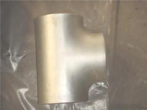 Stainless Steel Pipe Fittings Butt-Welding Equal Tees