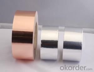 Coppery Color Aluminum  Foil  Tape With Liner
