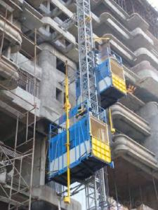 SS100 Single Cage 1ton Building Materials Hoist