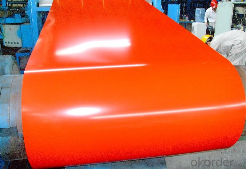 Pre-painted Galvanized/Aluzinc  Steel Sheet Coil with Prime Quality with Orange Color