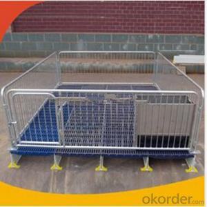 Galvanized Nursery Crate for Piglets or Calves