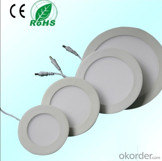 Led Panel Light Small Size 12W PF0.5 Recessed   Mount Round Shape