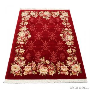 Wool Rug Red Persian Design for Home Pray