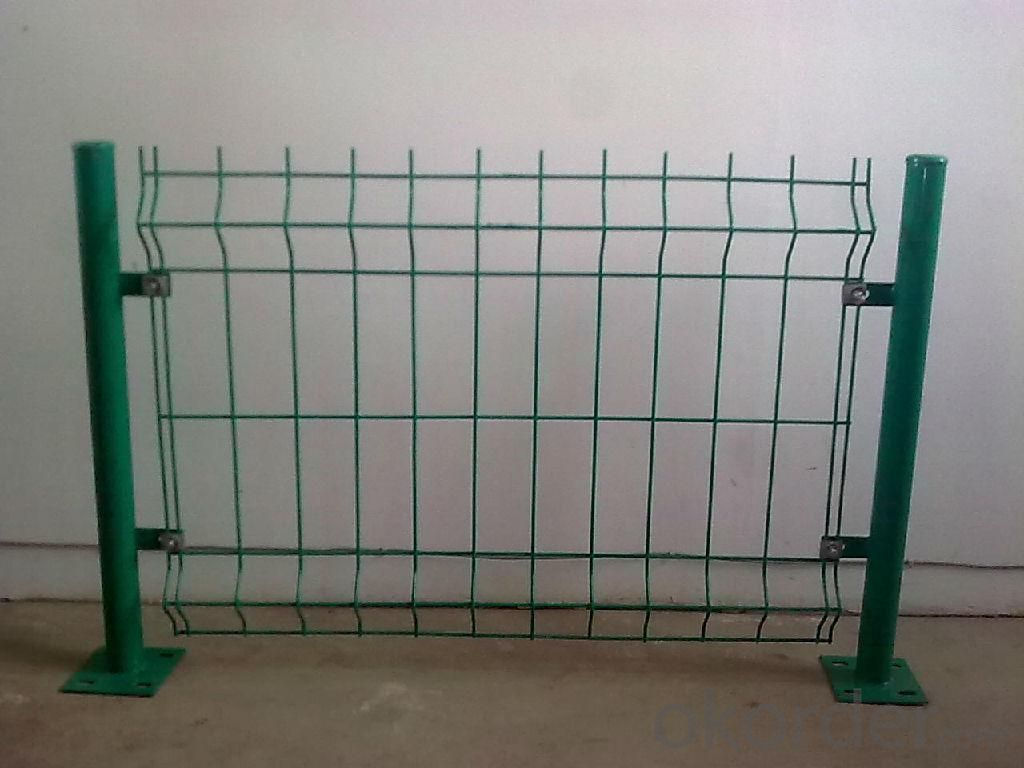 Green Colour Round Post  Wire Mesh Fence