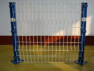 Plastic Coated  Square Post Wire Mesh  Fencing
