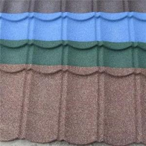 Stone Coated Metal Roofing Tile Colorful Stone Beautiful Red Green New