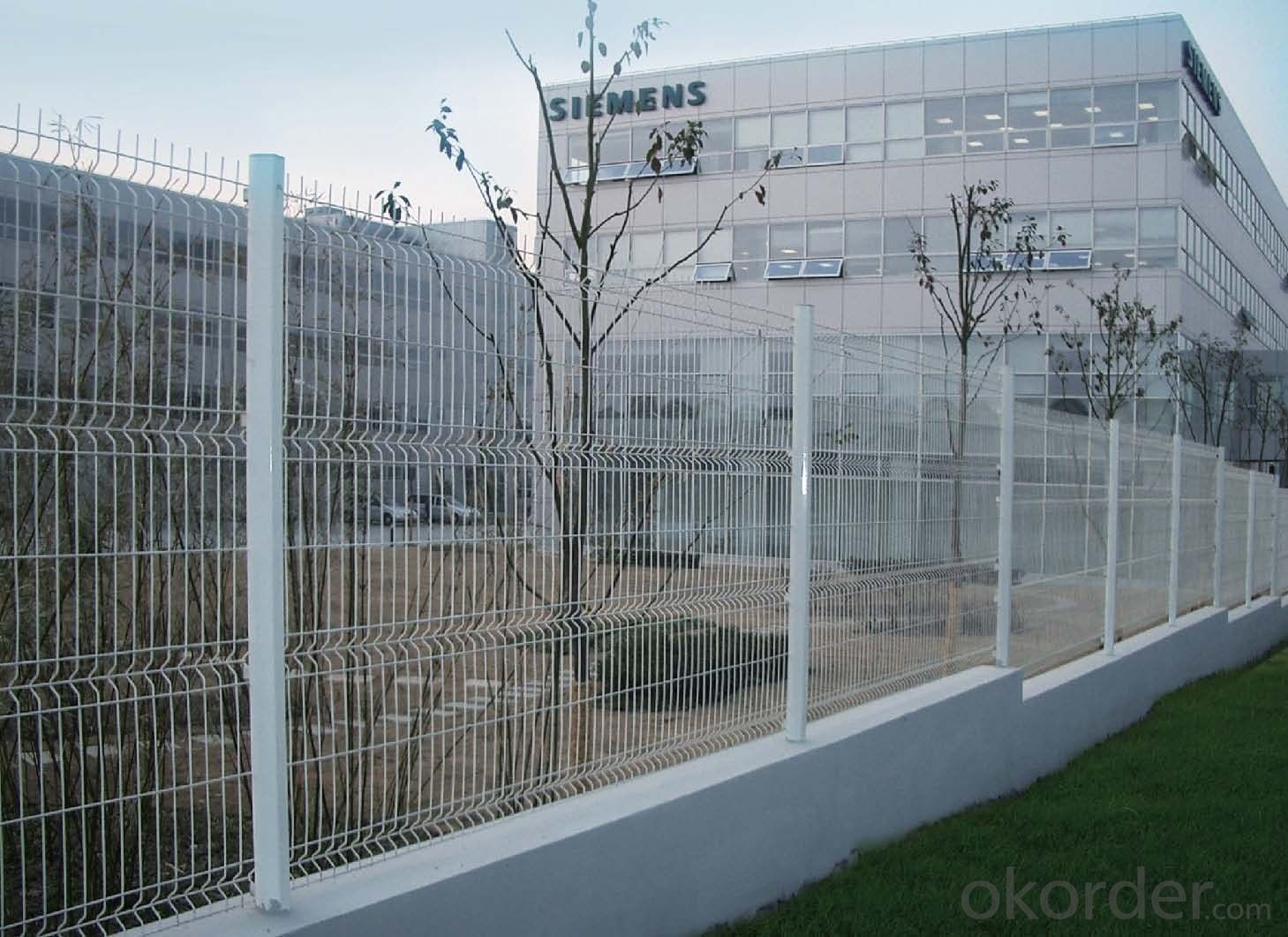 Buy White Color Coated Welded Wire Mesh Fence Price,Size,Weight ...