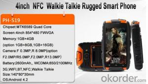 MTK6589 Quad Core Rugged Smartphone with NFC and Walkie Talkie Full function