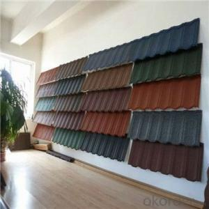 Stone Coated Metal Roofing Tile Colorful Red Green New Products