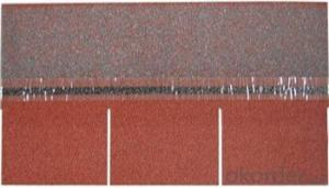 Waterproof 3-tab / single Layer Colorful  Asphalt Roofing Shingle Manufacturer