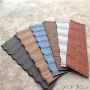 Stone Coated Metal Roofing Tile Colorful 0.4mm Corrosion-Resistant
