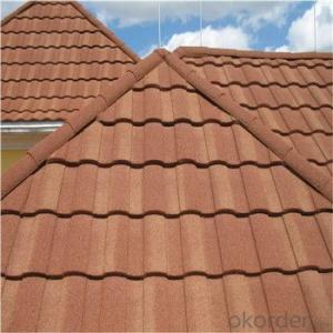 Stone Coated Metal Roofing Tile Colorful Excellent Durability Red Green Factory Price