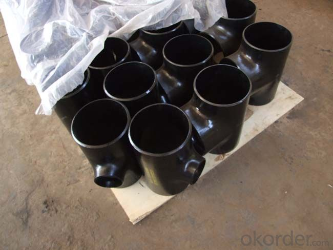 Stainless Steel Pipe Fittings Butt-Welding Reducing Outlet Tees