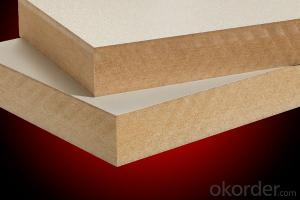 White Film Melamine Lamianted MDF Board for Decoration