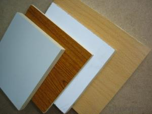 Melamine MDF Board  Wood Grain Melamine MDF Many Colors