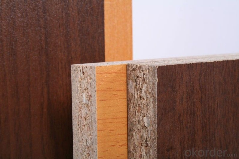 Wood Grain Melamine Faced Plywood Finish with Decorative Material