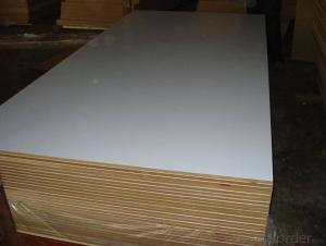 White Overlay  Plywood Melamine Plywood for Furniture Usage