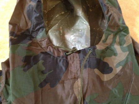 Rubberized Camouflage Rain Coat Polyester 100% Waterproof Men's Rain Suits