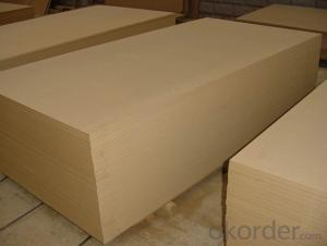 Raw MDF Plain MDF Board 16x1220X2800MM Light Color