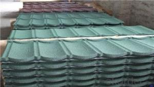 Colored Stone Coated Metal Roof Tile Classic / Executive Type  Manufacturer