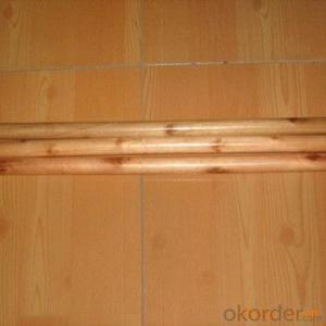 Wooden Stick Handle/PVC Coated And Natural Handle With Screw