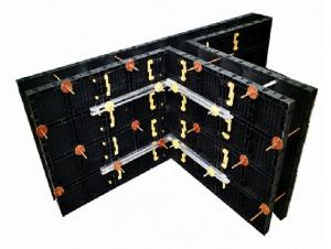 25 X 60 mm Black Plastic Modular Formwork Panel for Straight Concrete Wall