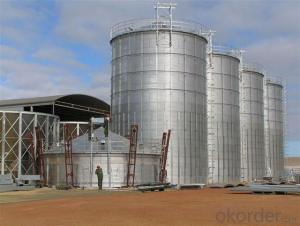 Grain Safety Guaranteed Hot Galvanized Grain Silo for Sale