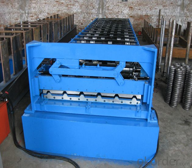 Steel Tile Roll Forming Machine with ISO