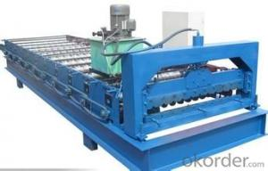 Steel Tile Roll Forming Machine in Shape
