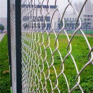Chain Link Fence Galvanized Wire Mesh PVC Coated Fence 3-5mm
