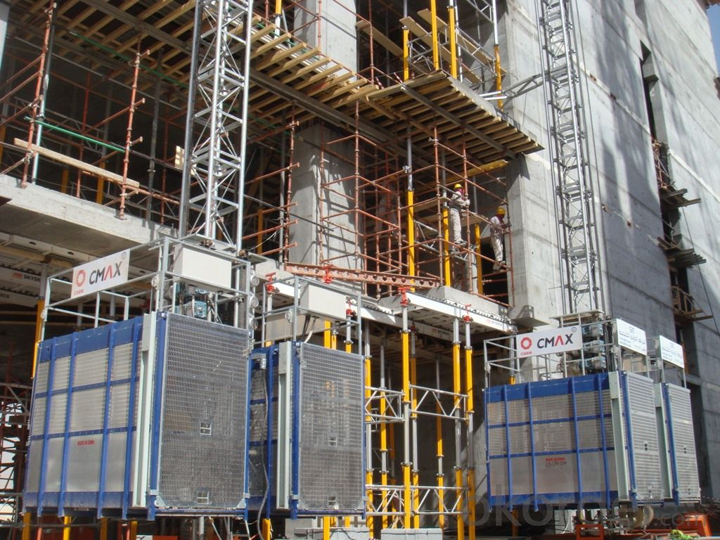 Building Construction Elevator with Max Hoisting Load 4t SC200/200