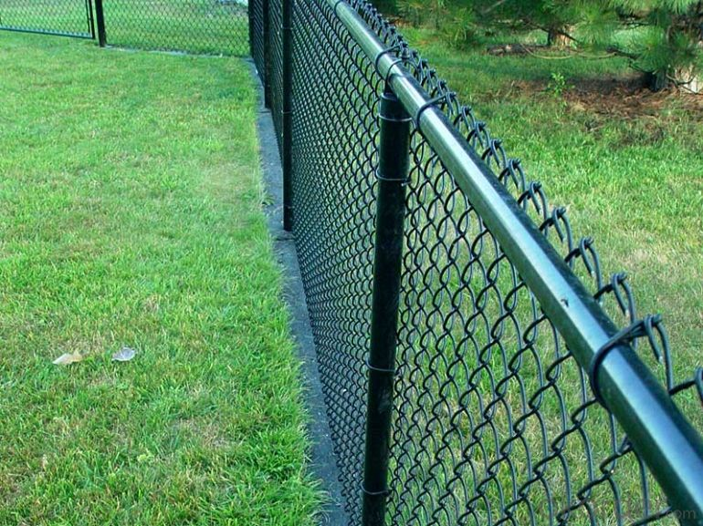Buy Powder Coated Galvanized Chain Link Fence Price Size