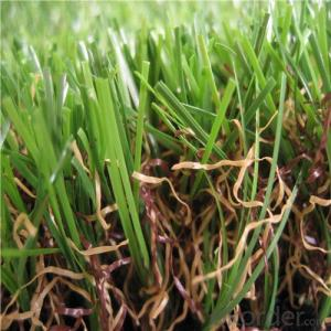 PE Monofilament & PP Curly Landscaping Artificial Grass Fake Lawn For Garden