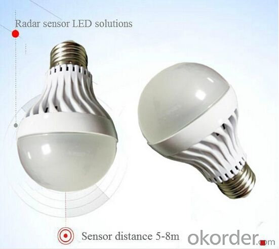 High-end Best Selling Led Motion Sensor Lights Bulb E27