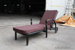 Balcony Outdoor Furniture Lounge Chair with Wheels