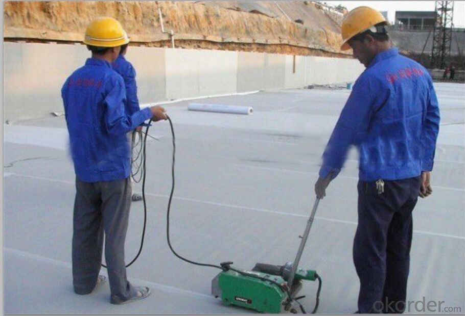 PVC Waterproofing Sheets in 1.0mm with Polyester Reinforcement