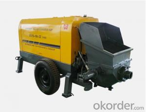 High Floor Motar Concrete Pump with Good Performance