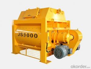 JS3000 Double-Shaft Concrete Mixer for Sale