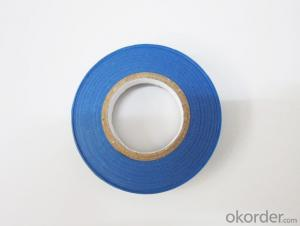 Blue Color Natural  Rubber  Adhesive  Pvc Tape