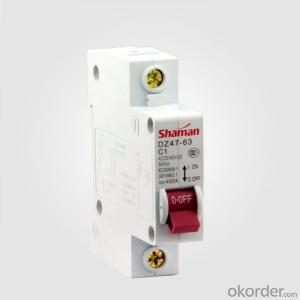 Mcb Dz47 C45 1p1a Mini Circuit Breakers Miniature Circuit Breaker Protection